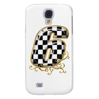 auto racin number 6 with gold accent samsung galaxy s4 cover