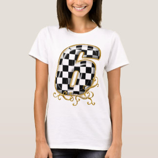 auto racin number 6 with gold accent T-Shirt