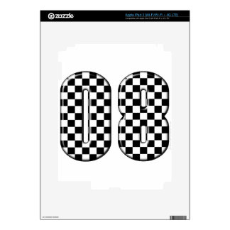 auto racing 08 number decal for iPad 3