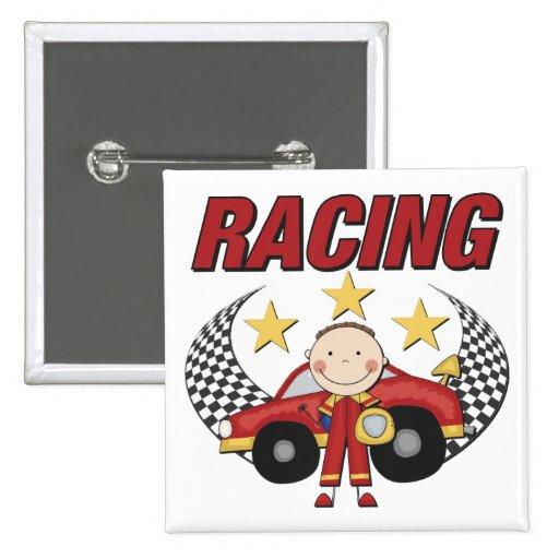 Auto Racing 2 Inch Square Button