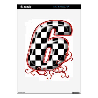 auto racing 6 in  red decals for iPad 2