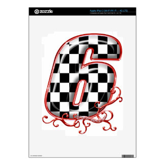 auto racing 6 in  red decals for iPad 3