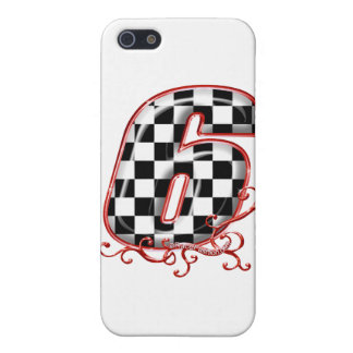 auto racing 6 in  red iPhone SE/5/5s cover