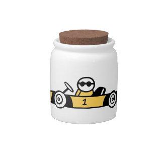 Auto Racing, Car Racing Candy Jars