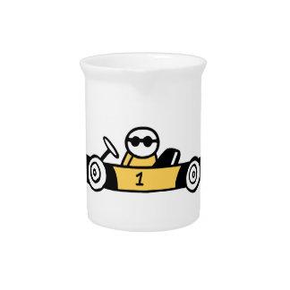 Auto Racing, Car Racing Drink Pitcher