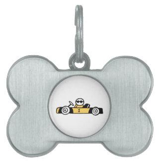Auto Racing, Car Racing Pet Tag