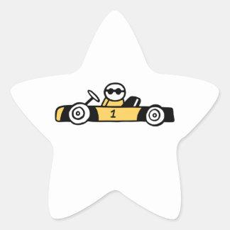 Auto Racing, Car Racing Star Sticker