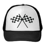auto racing checker flag hat