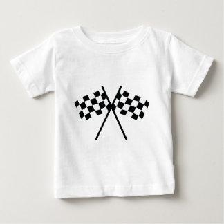 auto racing checker flag infant t-shirt