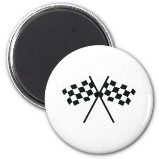 auto racing checker flag refrigerator magnets
