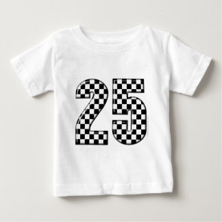auto racing checkers number 25 baby T-Shirt