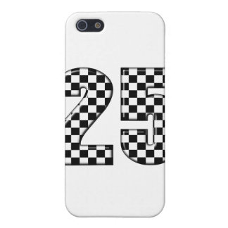 auto racing checkers number 25 iPhone SE/5/5s case