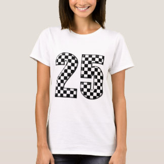 auto racing checkers number 25 T-Shirt
