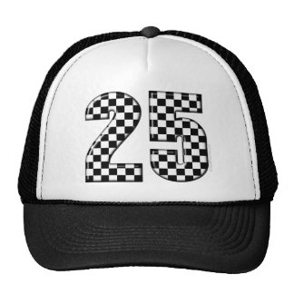 auto racing checkers number 25 trucker hat