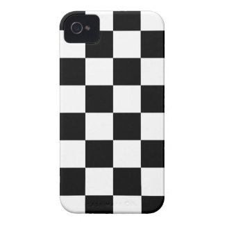 Auto Racing Chequered  Checkered Flag iPhone 4 Case-Mate Case