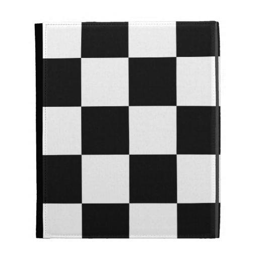 Auto Racing Chequered  Checkered Flag iPad Folio Case