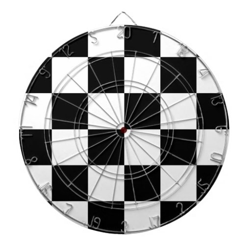 Auto Racing Chequered  Checkered Flag Dart Board