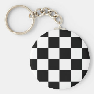 Auto Racing Chequered  Checkered Flag Key Chain