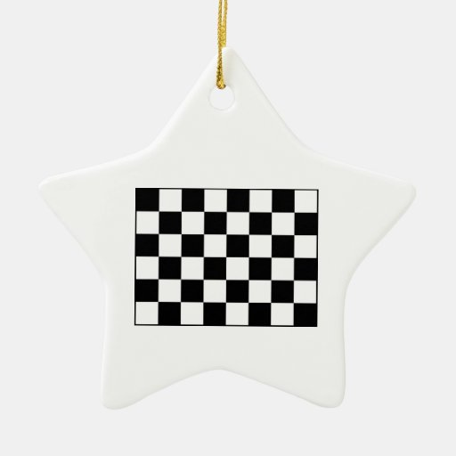 Auto Racing Chequered  Checkered Flag Christmas Tree Ornaments