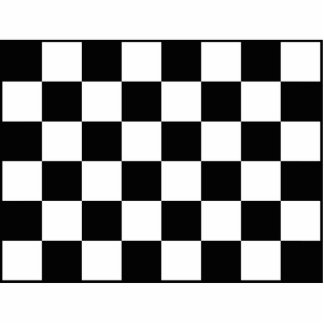 Auto Racing Chequered  Checkered Flag Photo Statuette