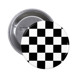 Auto Racing Chequered  Checkered Flag Pinback Button