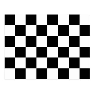 Auto Racing Chequered  Checkered Flag Postcard