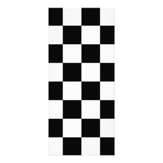 Auto Racing Chequered  Checkered Flag Rack Card