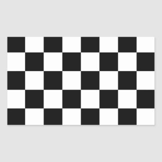 Auto Racing Chequered  Checkered Flag Rectangle Stickers
