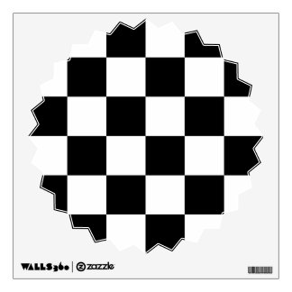 Auto Racing Chequered  Checkered Flag Wall Decals