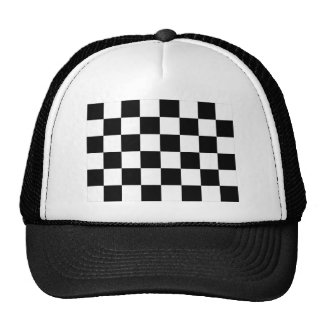 Auto Racing Chequered Flag Trucker Hat