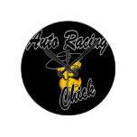 Auto Racing Chick #4 Wall Clocks