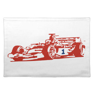 Auto Racing Cool Design Cloth Placemat