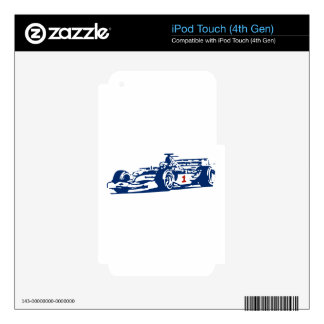 Auto Racing Cool Design Skin For iPod Touch 4G