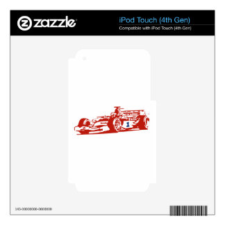 Auto Racing Cool Illustration Decal For iPod Touch 4G