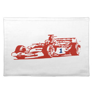 Auto Racing Cool Illustration Placemat