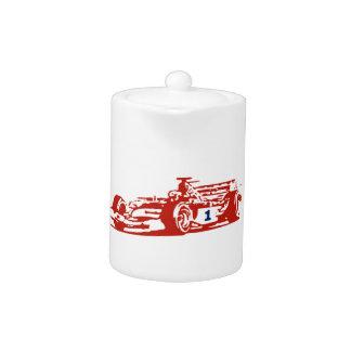 Auto Racing Cool Illustration Teapot