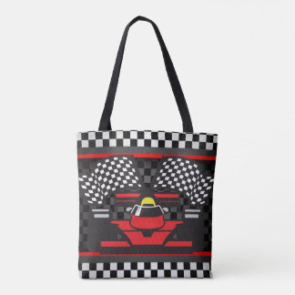Auto Racing Design Tote Bag