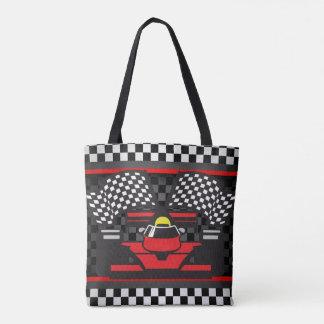 Auto Racing Design Tote Bag
