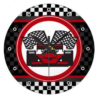 Auto Racing Design Wall Clock