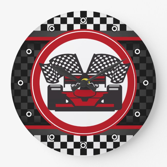 Auto Racing Design Wall Clock