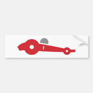 Auto Racing  illustration printed on t-shirts Bumper Sticker