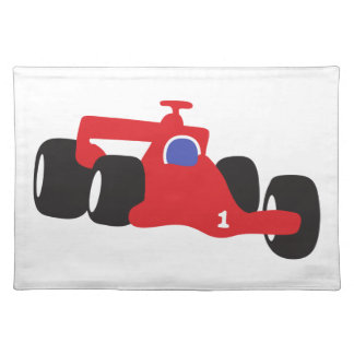 Auto Racing  illustration printed on t-shirts Cloth Placemat