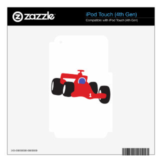 Auto Racing  illustration printed on t-shirts iPod Touch 4G Skins