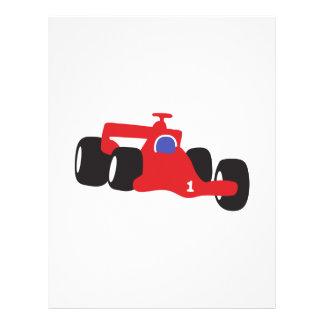 Auto Racing  illustration printed on t-shirts Letterhead