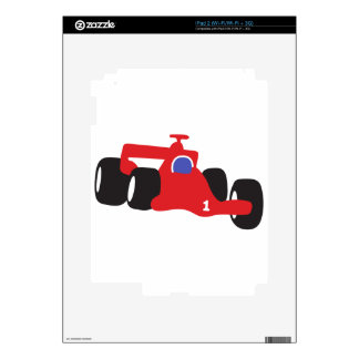 Auto Racing  illustration printed on t-shirts Skin For iPad 2