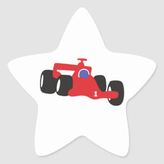 Auto Racing  illustration printed on t-shirts Star Sticker