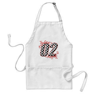 auto racing number 02 adult apron