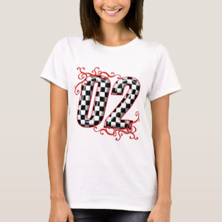 auto racing number 02 T-Shirt