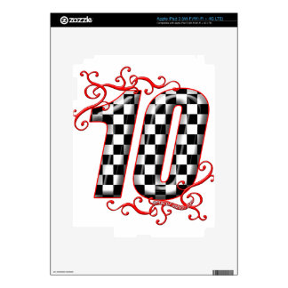 auto racing number 10 iPad 3 decals