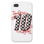 auto racing number 10 iPhone 4/4S case